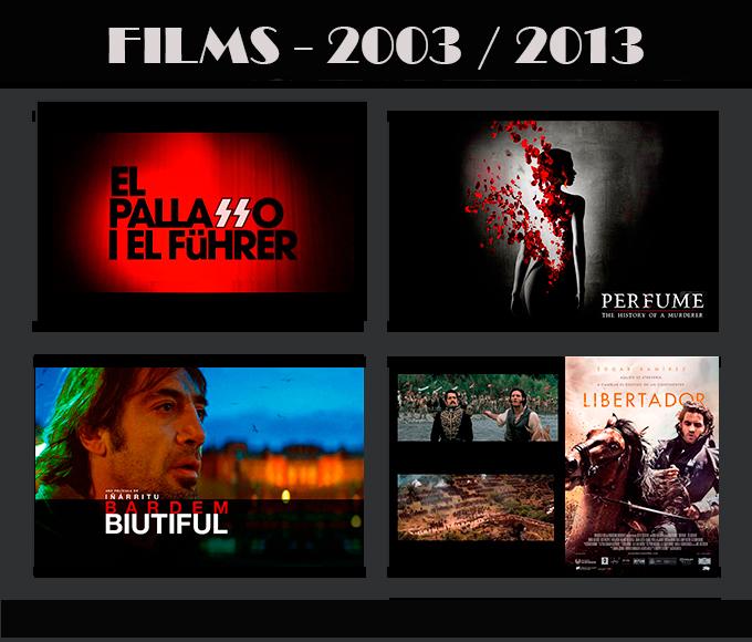 Movie-Men Técnicos en Ilumiación trabajos en Cine 2003-2013