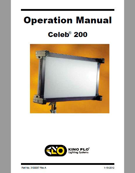 Kino Flo Celeb® 200 LED - Manual