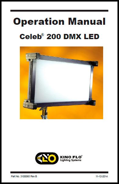 Kino Flo Celeb 200 DMX LED - Manual
