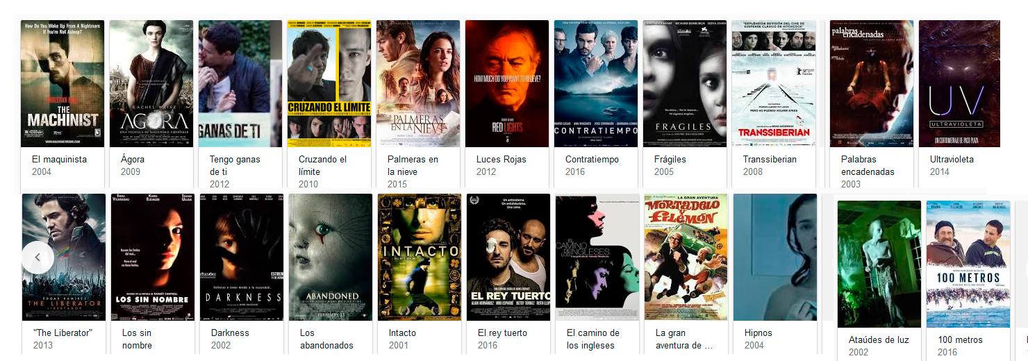 Películas Director de Fotografía Xavi Giménez