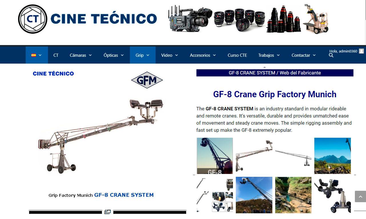 WEB grúa GF-8 Crane GFM Rental