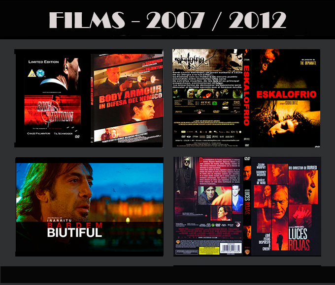 Trabajos Cine Movie-Men 2007/2012