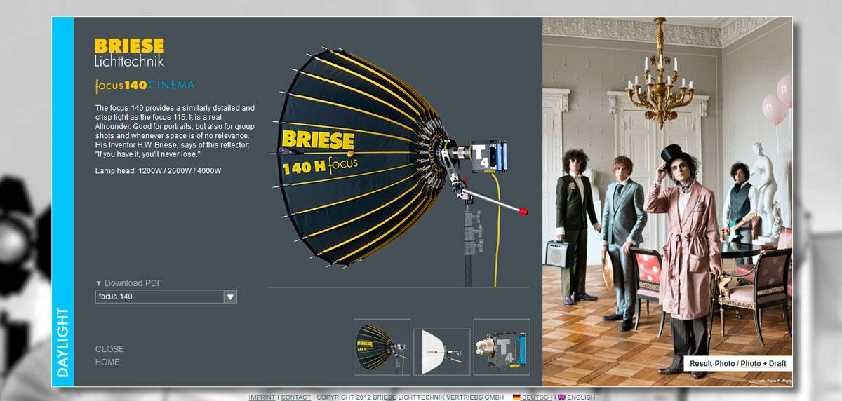 WEB Focus 140 - BRIESE Lichttechnik