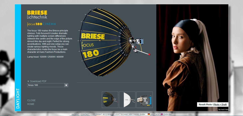 WEB Focus 180 - BRIESE Lichttechnik