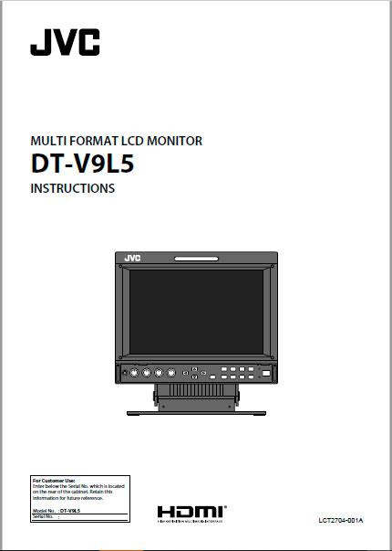 "Manual Monitor JVC HD 9"""