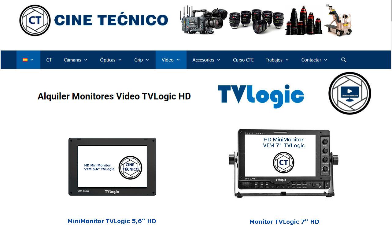Alquiler Monitores Video TVLogic HD / Movie-Men