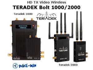 Alquiler HD TX Video Wireless TERADEK Bolt 1000/2000