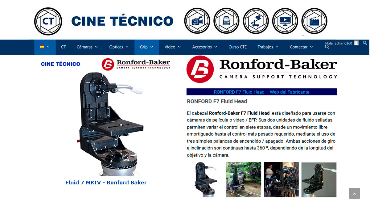 Ronford-Baker F7 Fluid Head