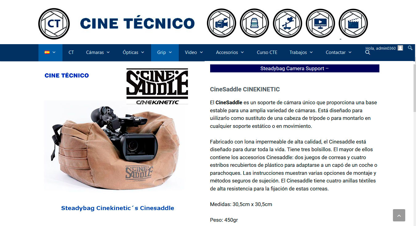 Steadybag Cinekinetic´s Cinesaddle