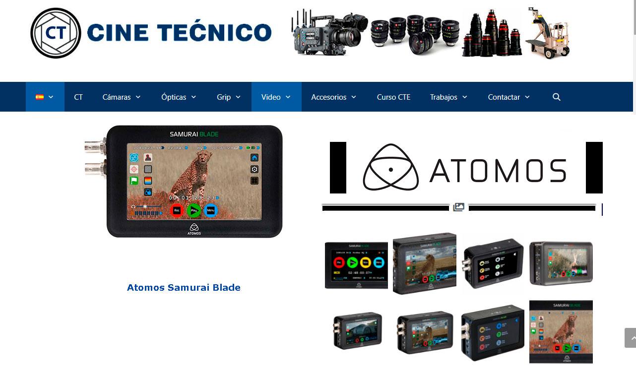 web CINE TÉCNICO Atomos Samurai Blade