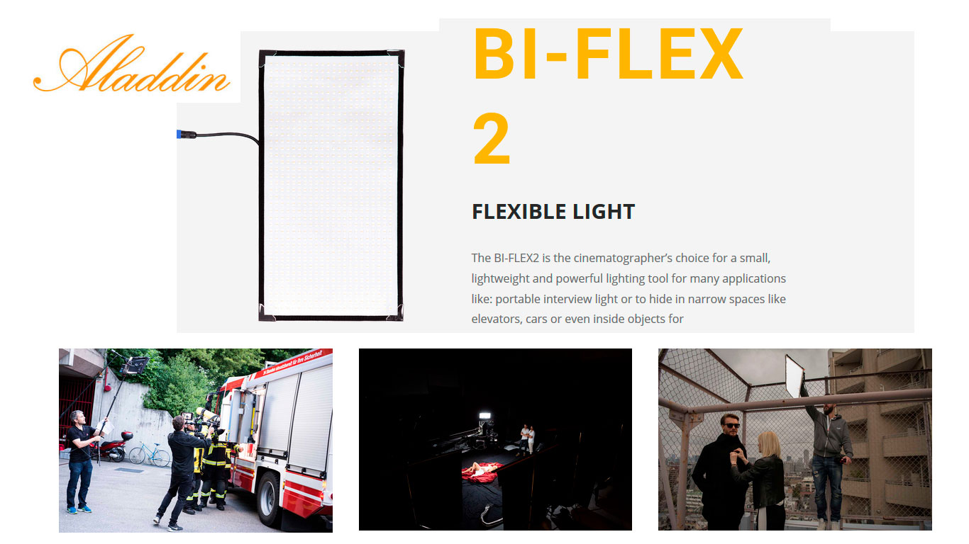 LEDS . Aladdin BI-FLEX 2 / Alquiler Movie-men