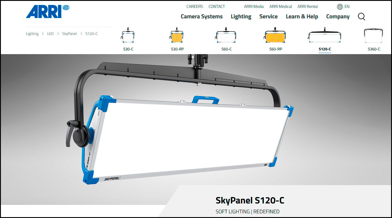 Web Arri Skypanel S120-C