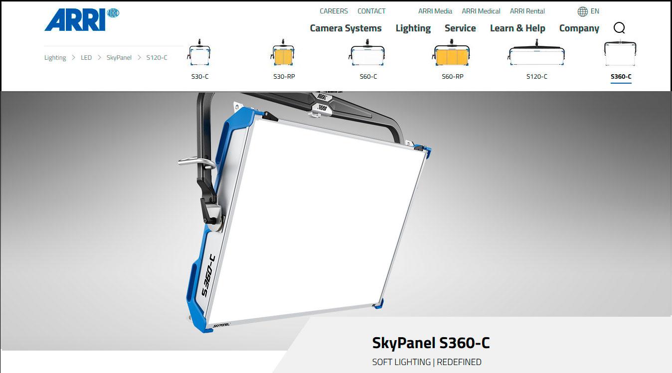 WEB Arri SKY PANEL S360-C