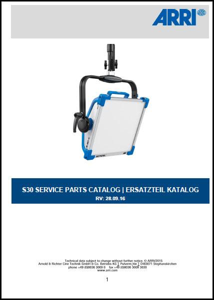 Arri SKY PANEL S30-C Service Parts Catalog