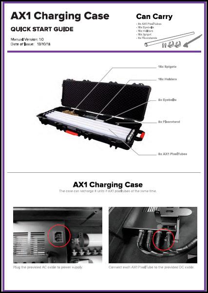 Astera AX1 Wireless PixelTube - Charging Case