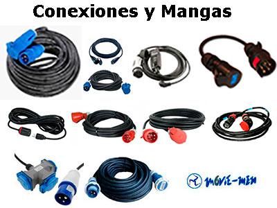 Alquiler Material Eléctrico Conexiones y Mangas - Moviemen