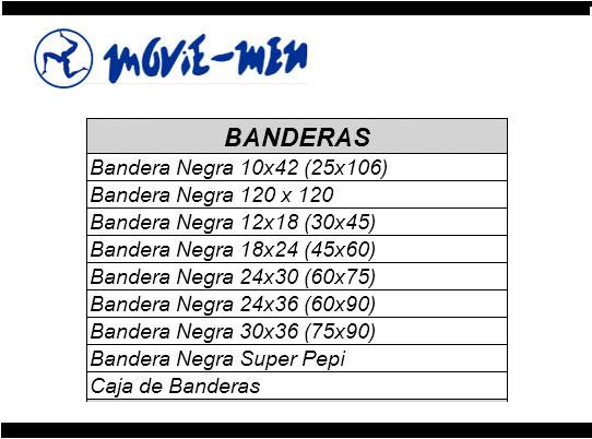 Alquiler Textil Cine Banderas Movie-Men