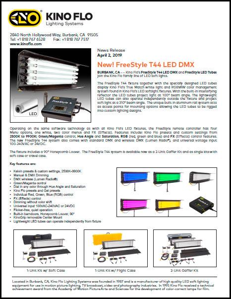 KINO FLO Freestyle T44 - Press