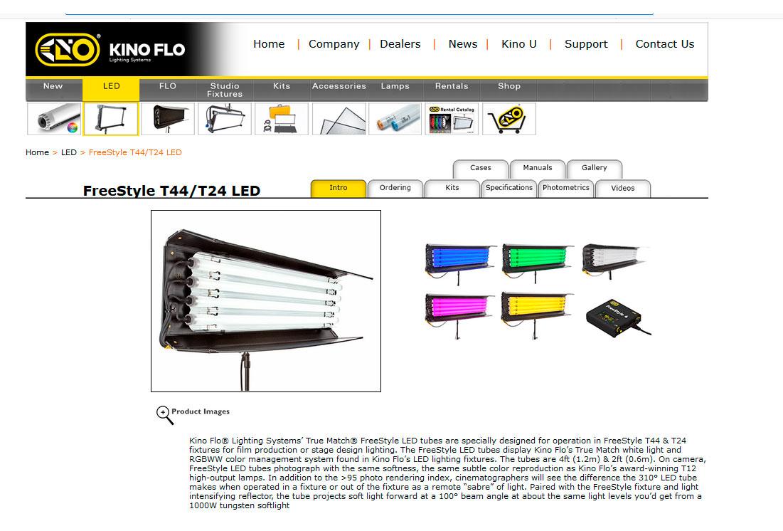 KINO FLO Freestyle T44 - Web