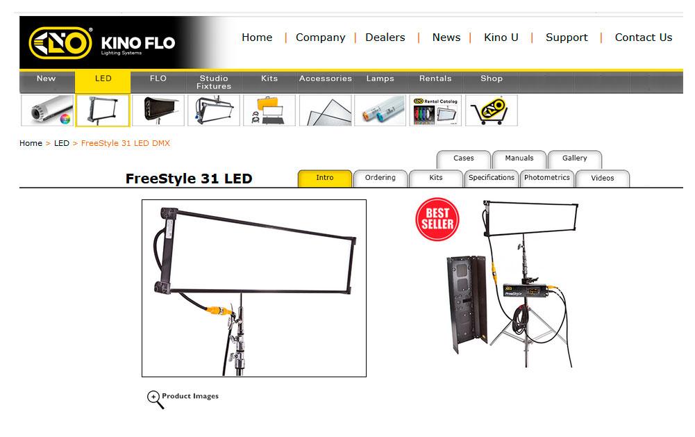 Kino Flo Freestyle 31 - Web