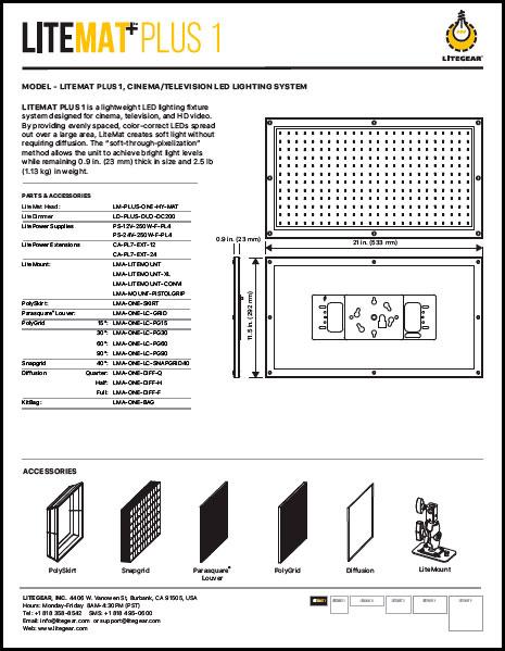 Lite Mat Plus 1 - Data Sheet