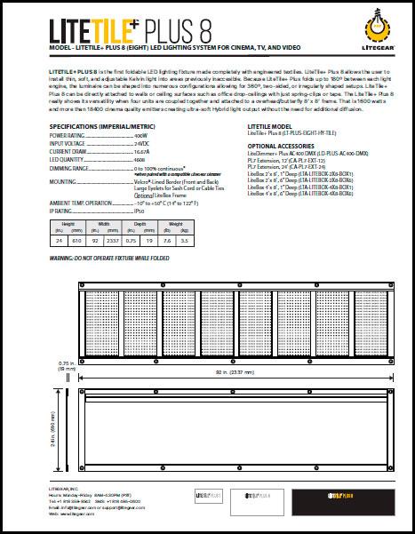 LiteTile 4x4 PLUS Data Sheet