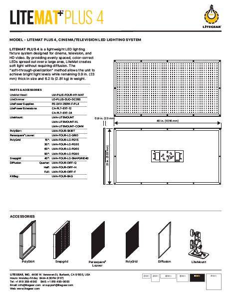 Lite Mat plus 4 - Data Sheet