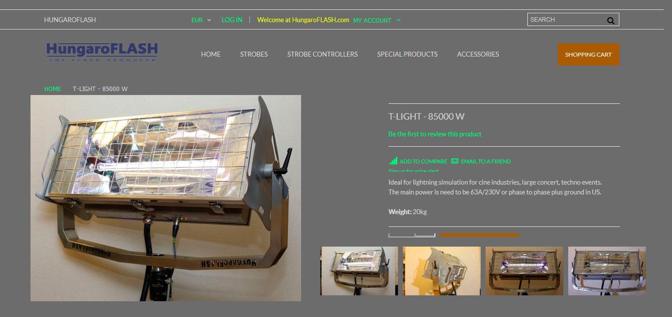 WEB HungaroFlash T-Light Pro 85000 W